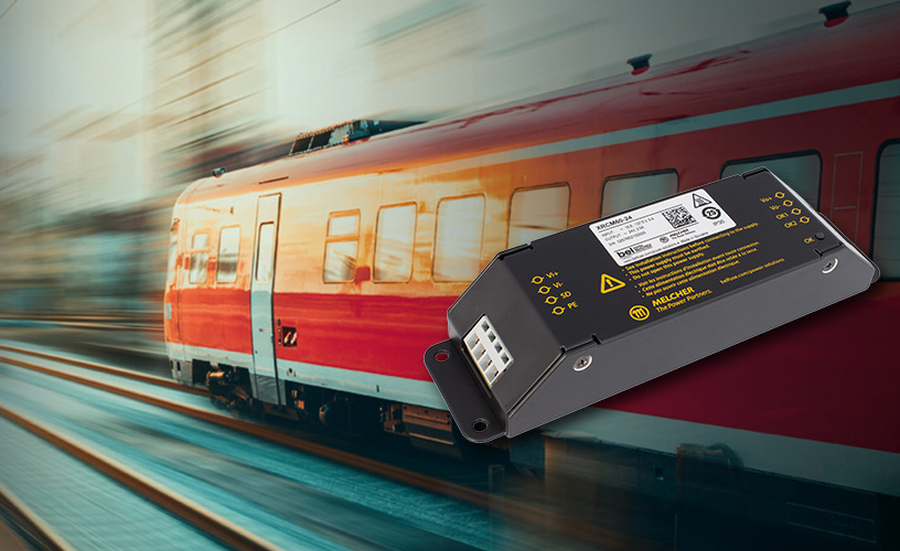 Bel Power Solutions Announces Melcher™ RCM Chassis Mount  60 W DC-DC Converters for Railway Applications